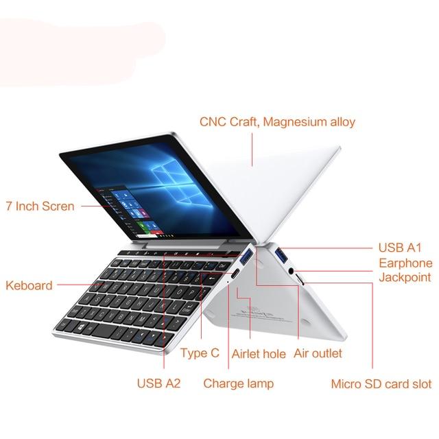 GPD Pocket 2 Pocket2 8GB 256GB 7 Inch Touch Screen Mini PC Pocket Laptop Notebook CPU Intel Celeron 8100Y Windows 10 Systerm 5