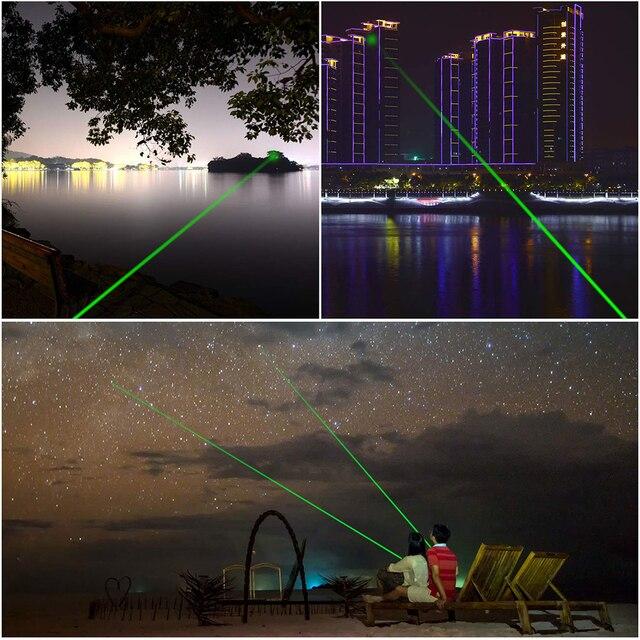 303 532nm Laser Verde Penna Puntatore Ad Alta Potenza Abbagliamento Torcia Elettrica Esterna di Viaggi Professionale Indicatore Caccia Dispositivo Laser 5
