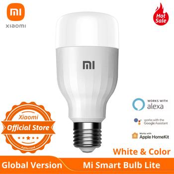 Globalna wersja Xiaomi LED Smart Bulb Lite kolor i biały APP WIFI sterowanie głosem 9W 950 lumenów 16 milionów kolorów lampa temperatury E27 tanie i dobre opinie CN (pochodzenie) Mi Smart Bulb Essential Gotowa do działania MIGAJĄCE 2 KANAŁY none 1700 - 6500K 50 x 50 x 120mm 80-950 lm