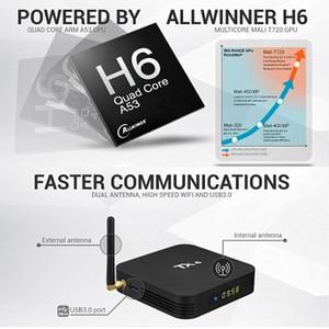 Image 2 - Tivi Box Android 9.0 Smart TV Box TX6 Android TV Box RAM 4GB 64GB Allwinner H6 Quad Core USD3.0 2.4G/5 GHz Wifi 4K TVBOX Tanix TX6