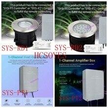 Milight SYS-RD1 5 W/SYS-RD2 9 Вт RGB+ CCT светодиодный подземный свет Водонепроницаемый лампа SYS-PT1/SYS-PT2 1-канальный усилитель хост Управление коробка