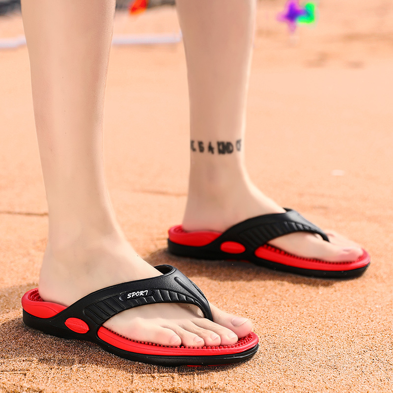 Massage-Shoes Flip-Flops Male Slippers Summer Men Outdoor Plus-Size Men's Fashion High-Quality title=