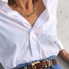 Retro Necklace Chains Chain For Women Exaggeration Collares Collar Necklaces Collier Naszyjnik Colar Choker Cadena Gold Fashion
