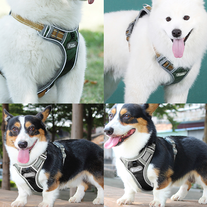 Image 5 - TUFF HOUND Pet Products Nylon Dog Harness Vest K9 Breathable And Comfortable Dog Harness Belt Large  Small Bulldog Quick ReleaseHarnesses   -