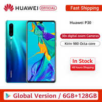Globale Versione Huawei P30 6GB 128GB Kirin 980 Smartphone 30x Zoom Digitale Quad Fotocamera 6.1 ''Schermo Intero OLED NFC 3650mAh