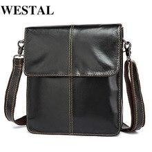 WESTAL Messenger Bag Men's Shoulder Bags Genuine Le