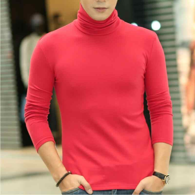 T-shirt Mannen Lange Mouwen T-shirts Winter Tshirt Man Thermische T Shirts Coltrui Heren Kleding Tops Casual Winter Lente t-shirt