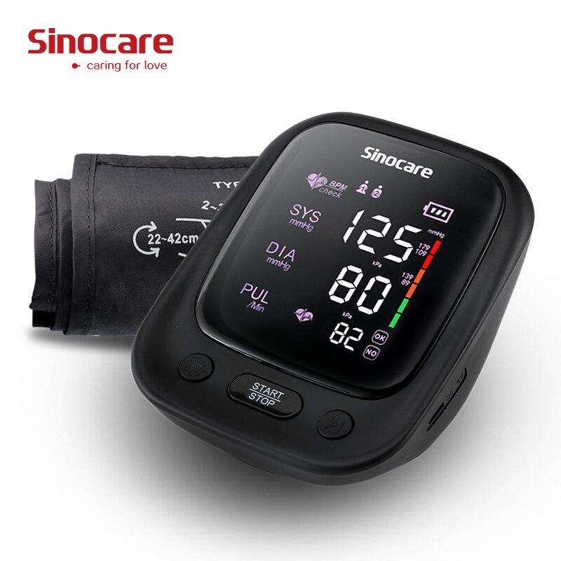 Kan basıncı monitörü üst kol, otomatik dijital BP makinesi kalp hızı darbe monitör ses fonksiyonu ve büyük LCD ekran