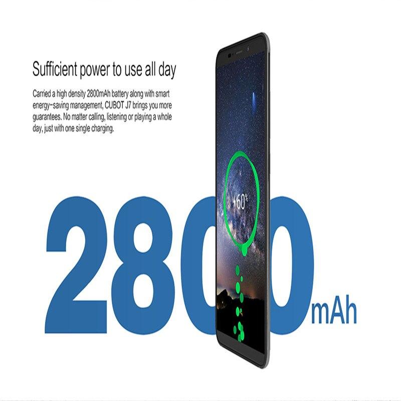 Cubot J7, 5,7 дюймов, 18:9 экран, Android 9,0, смартфон, MT6580, четыре ядра, 2800 мАч, для распознавания лица, отпечатков пальцев, две sim карты, мобильный телефон - 3
