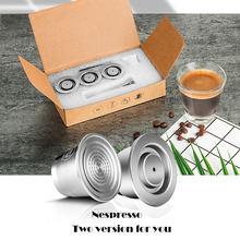 ICafilas для Nespresso многоразового использования капсулы две версии многоразового использования из нержавеющей стали кофе фильтр эспрессо кофе ...