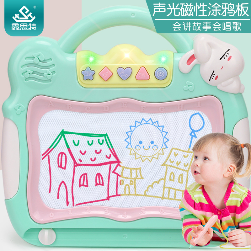 Children'S Educational Toy Color Magnetic Drawing Board Baby Creative Painted Music Writing Board Toys Factory Price