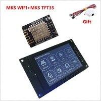 Impressora 3d display colorido mks tft35 v1.0 tela de toque + impressora 3d wi fi módulo monitor 3.5 polegada painel lcd 3.5 tft tft tft peças