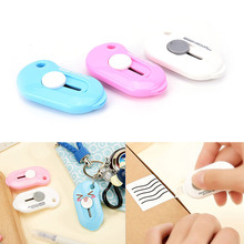 Paper-Cutter Opener Utility-Knife Stationery Office Mini Portable 1pc Express-Box Solid-Color