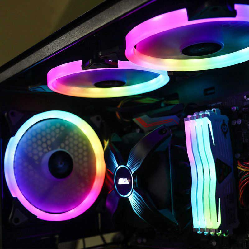 Darkflash CS140 Pc Case Rgb Fan 140Mm Aura Sync 5V/3pin Cooler Fan Pc Rustig Passen Fans snelheid Kleur Computer Case Cooler Rgb Fan
