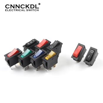 цена на 5 pcs/lot KCD3 With Light Power Switch 10A 250V AC 15A 125V AC 2/3 Pin SPDT KCD3 ON-OFF-ON 2/3 Position Boat Rocker Switch