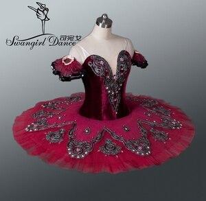 Image 3 - girls mulberry swan lake ballet costumes red ballet tutu adult professional ballet tutu ballet costumes performanceBT8992