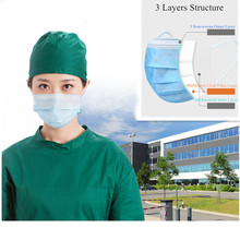 200PCS Non Woven Disposable Face Mask 3 Layer Medical Dental Earloop Activated Carbon Anti-Dust Face Surgical Masks