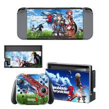 Xenoblade Chronicles 2 Nintendo Switch Sticker Skin Decal for Nintendo Switch Full Set Faceplate Stickers Console Joy-Con Dock