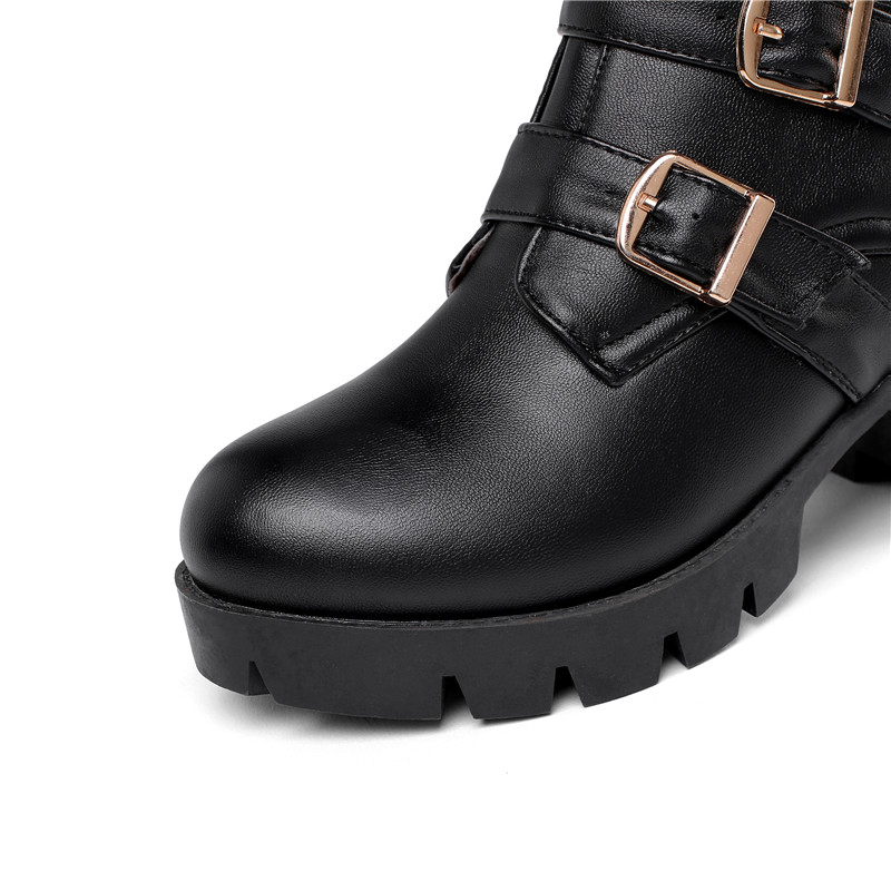 Image 3 - MORAZORA 2020 new arrival women ankle boots buckle zip autumn winter high heels platform boots fashion casual shoes ladies-in Ankle Boots from Shoes