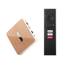 MECOOL KM6 DELUXE Android 10.0 TV Box 4K Media Player Amlogic S905X4 2T2R 2.4G/5G WiFi Voice Remote Control Google BT5.0