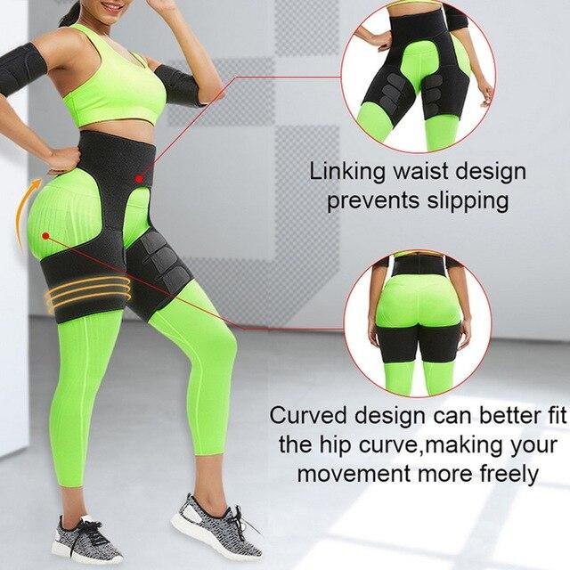 Lady Shaper High Waist Trainer Belt Weight Loss Fat Belt Thigh Trimmer Body Shaper Neoprene Slimming Belt Sweat Body Leg 4