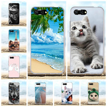 For Huawei Honor 10 Case Ultra-slim Soft TPU Silicone Cover Beach Patterned Bumper Capa