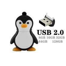 Usb-2.0 Flash-Drive Novelty Cartoon Memory-Stick 256GB New 16GB Cute 4GB Penguin 32GB