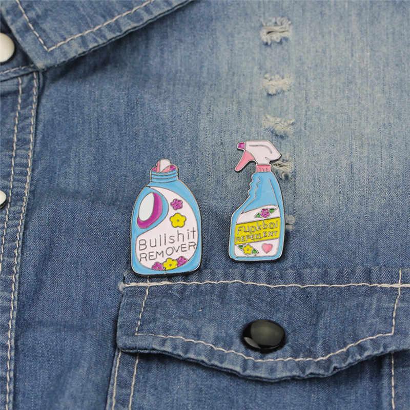 1Pc Spille s E Spille Bullshit di Rimozione, XX Repellente Divertente Detergente A Spruzzo Spille Set Distintivo Dello Smalto Spille