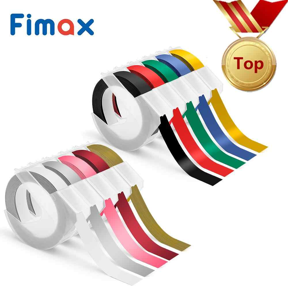 Fimax 10 colores 9mm * 3m Dymo 3D de Dymo relieve cinta para la grabación en relieve Etiqueta de PVC DYMO 1011, 1610, 1595, 12965 MOTEX E101