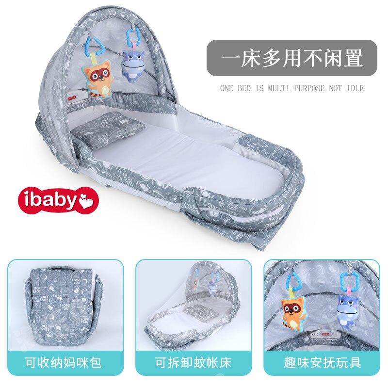 Bébé nid pliable lit de jeu portable avec moustiquaire lit berceau lit de voyage lit pour enfants infantile enfants coton berceau A