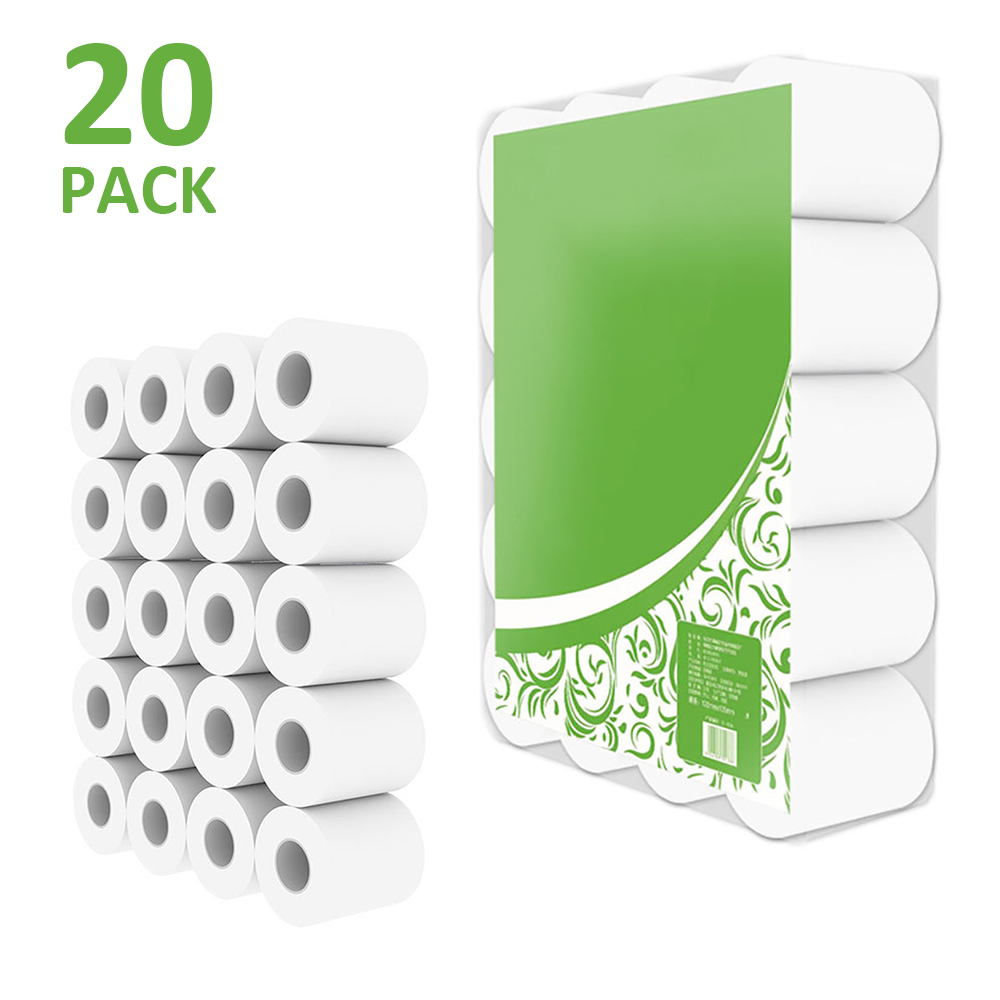 20 Rolls Per 140g 4 Layers Of Hollow Roll Paper Raw Wood Pulp Toilet Roll Paper Towels Wood Pulp Mention Height 10.5 Cm