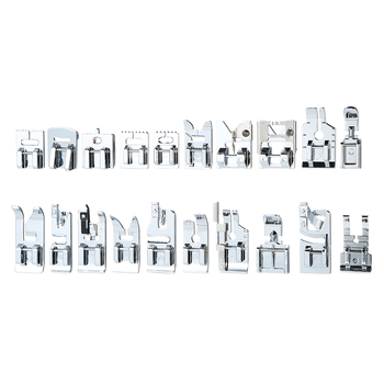 New 62Pcs Domestic Sewing Machine Accessories Presser Foot Feet Kit Set Hem Foot Spare Parts With Box For Brother Singer Janome
