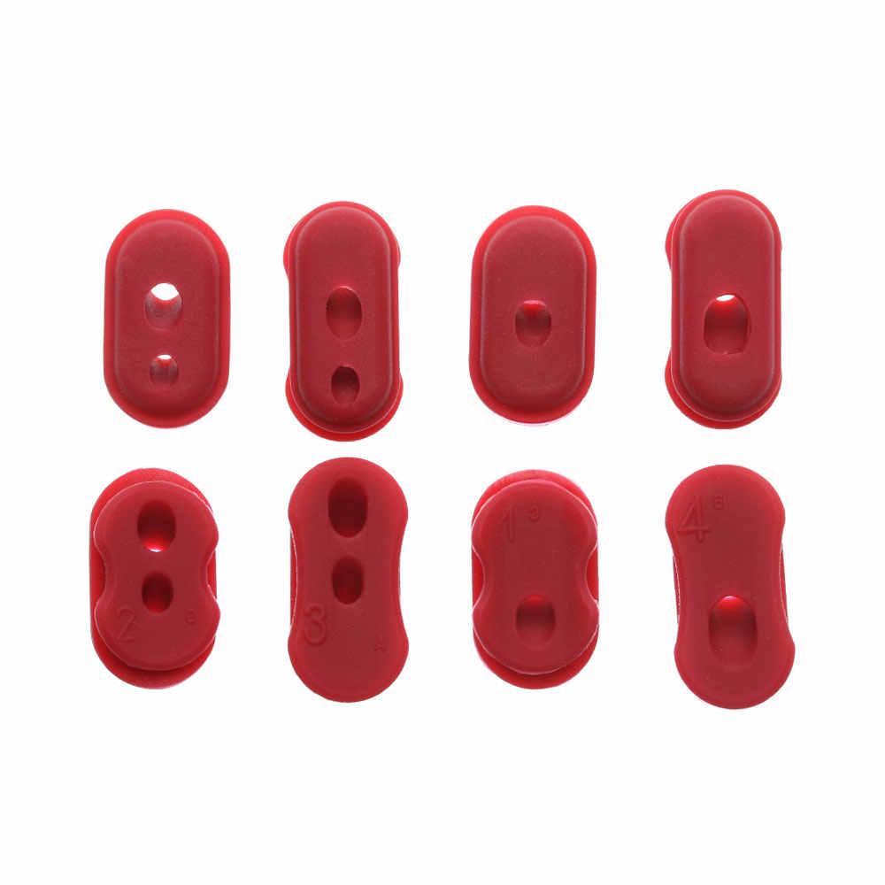 4 pièces couleur rouge en caoutchouc Port de Charge couverture en caoutchouc bouchon anti-poussière étui pour XIAOMI M365 Scooter électrique pièces accessoires de planche à roulettes