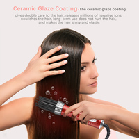 New 3 in1 Electric Hair Curler Hair Dryer Ionic Flat Iron Fast Heated Comb Hair Styling Brush Comb Volumizer Hot Air Brush Hair 2