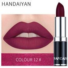 Venda quente sexy batom fosco à prova dvelvet água veludo lábio vara 15 cores sexy vermelho marrom pigmentos maquiagem fosco batons beleza lábios