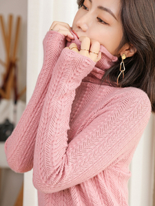 Image 5 - 100% קשמיר סוודרים סרוגים נשים למעלה איכות גולף 4 צבעים גבירותיי סוודרי החורף חדש אופנה סטנדרטי בגדים