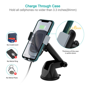 Image 3 - CHOETECH 15W Fast Wireless Car Charger Car Phone Holder Stand Auto Clamping Car Mount for iPhone Samsung Huawei Xiaomi