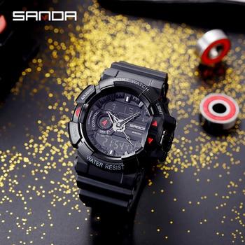 цена на SANDA Luxury Men's Digital LED Watch Date Sport Men Outdoor Electronic Watch Casual Sport LED Wrist Watches relogio digital