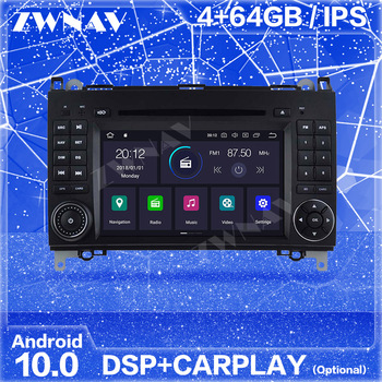 Carplay IPS 2 Din Android 10 Screen For Mercedes Benz B200 B-class W245 B170 Auto Audio Radio Stereo Multimedia Player Head Unit image