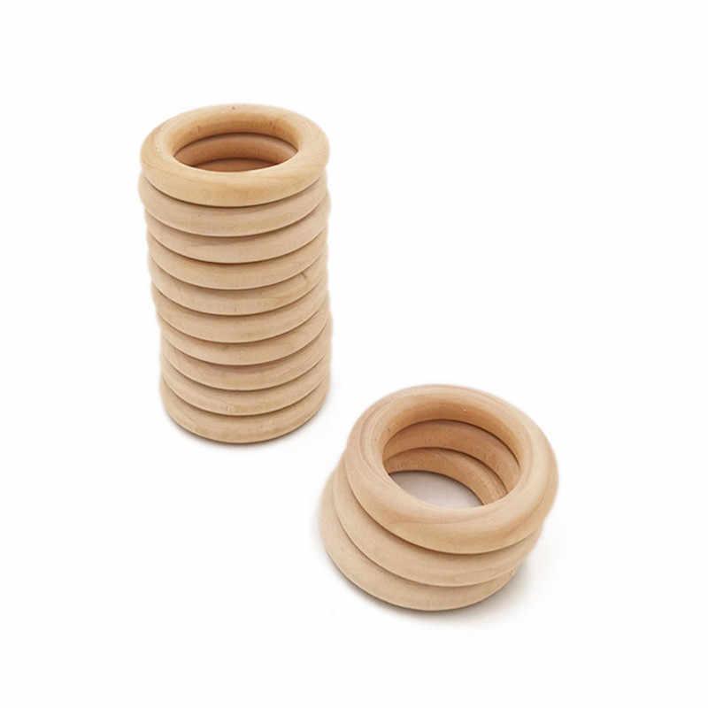 """5 шт. 70 мм 2,75 """"Деревянные Детские Прорезыватели для зубов грызунок для младенцев игрушка ожерелье браслет для детей 3-12 месяцев уход за зубами продукты"""