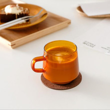 Ins Japanese-style Mug Glass Cups Coffee Latte Hand-made Cup Heat-resistant High-temperature Household Glassware