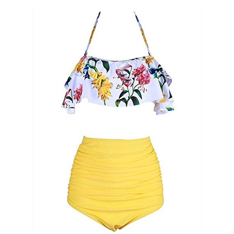 2019 New Bikinis Women Swimsuit High Waist Bathing Suit Plus Size Swimwear Push Up Bikini Set 2019 New Bikinis Women Swimsuit High Waist Bathing Suit Plus Size Swimwear Push Up Bikini Set Vintage Beach Wear Biquini