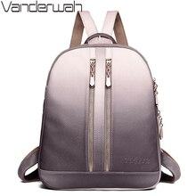 ترف المرأة جلدية حقائب ظهر للمراهقين الفتيات كيس دوس حقيبة المدرسة الإناث السفر على ظهره السيدات حقائب نهارية عادية Mochilas