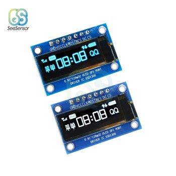 0.91 cala 128x32 moduł wyświetlacza LCD OLED Port SPI SSD1306 sterownik IC dla Arduino DC 3.3V-5V biały/niebieski