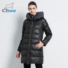【Flash Deals】icebear 2019 Nieuwe Vrouwen Winterjas Jas Slanke Winter Gewatteerde Jas GWD19600I