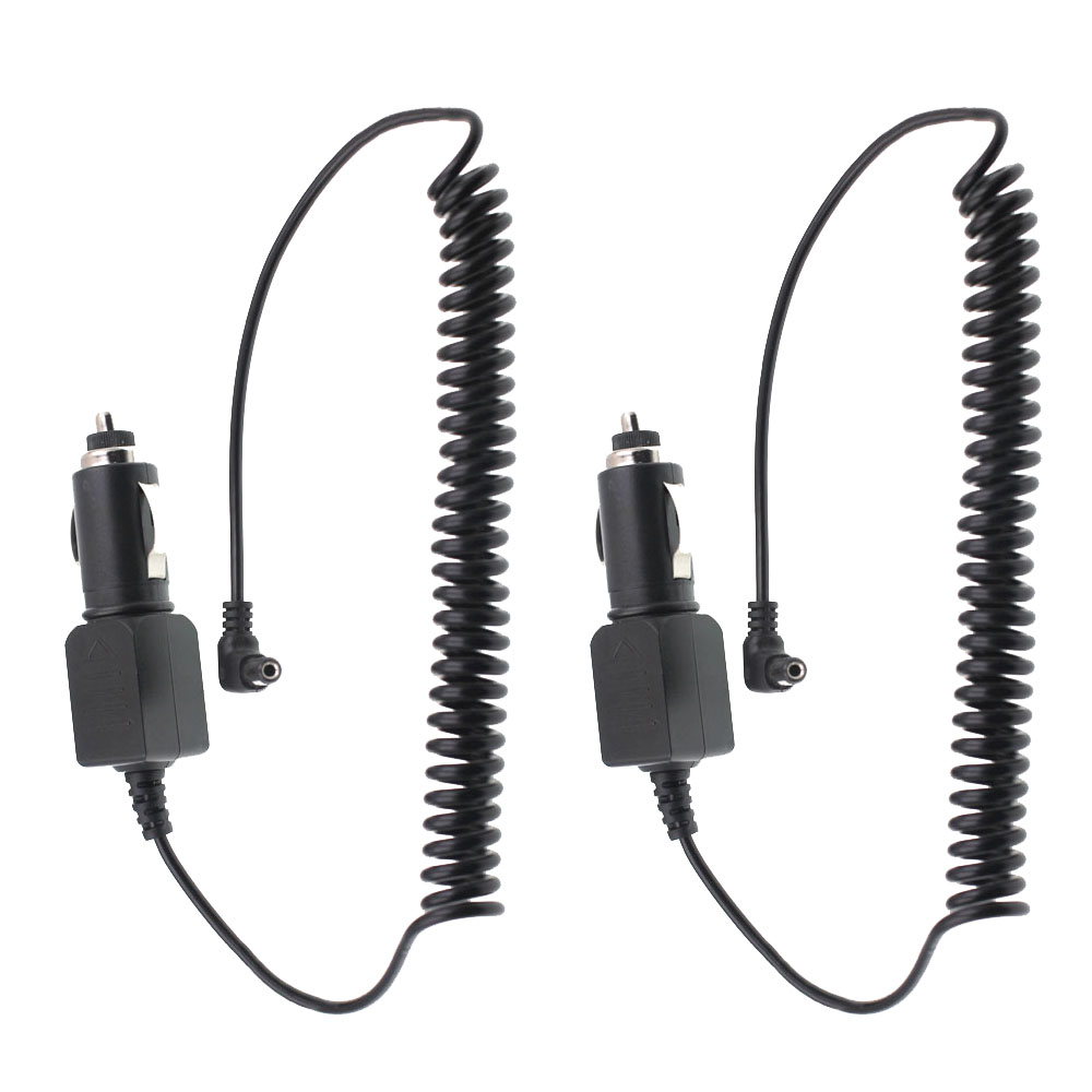 12V - 24V Car Charger Cable For Walkie Talkie Baofeng TYT WOUXUN ANYSECU PUXING 5.5mm Plug Desktop Charger CCX-19 Charging Cable