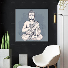 home decorative buddha culture painting unframed modern poster print wall art canvas paintings pictures for living room wolf print unframed canvas paintings
