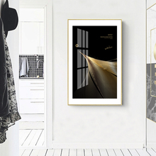 Modern Nordic Black Gold Lines Canvas Painting Poster Print Wall Art Picture for Living Room Bedroom Decoration Home Decor abstract canvas painting poster print wall art nordic green gold lines picture for living room bedroom decoration home decor