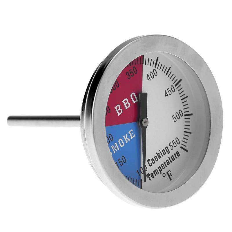 Grill Stainless Steel Thermometer Temp Gauge 100-550℉ Barbecue BBQ Smoker Oven