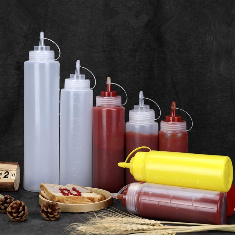 1PCS Plastic Dropper Bottles Empty Kitchen Oil Bottle Condiment Container Soft Dispenser For Liquid,Salad,Sauce